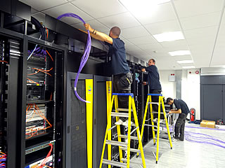 data centre cable installation